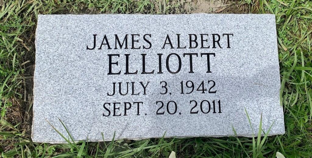 Marker for James Albert Elliott