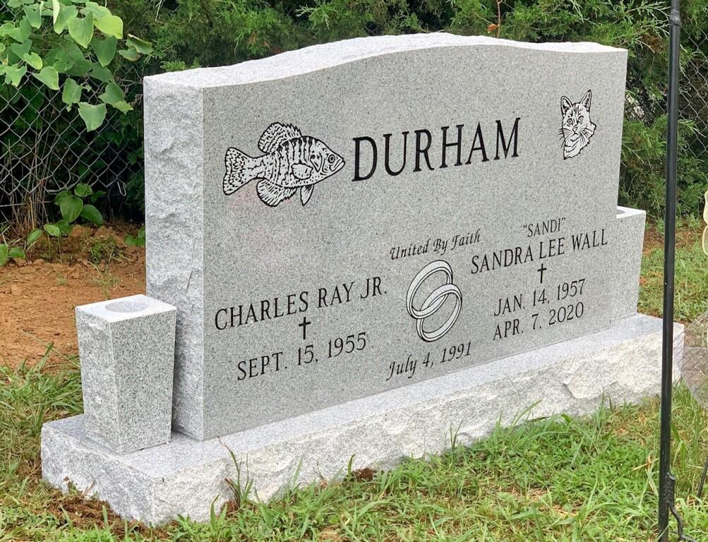 Headstone for Charles and Sandi Durham
