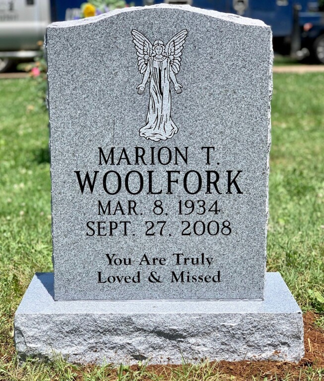 Headstone for Marion T. Woolfork