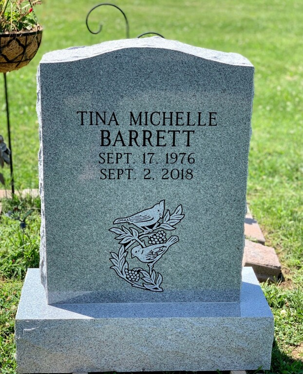 Headstone for Tina Michelle Barrett