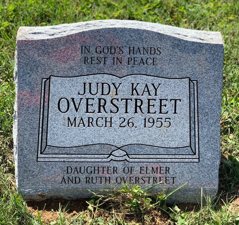 Slant marker for Judy Overstreet