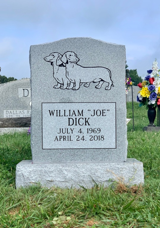 "Headstone for William ""Joe"" Dick"