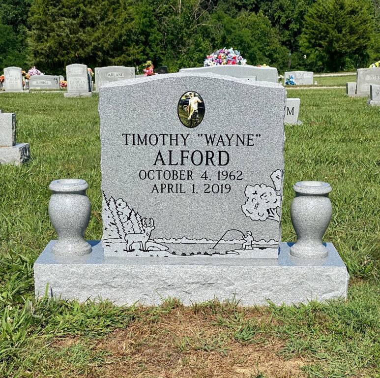 Headstone for Wayne Alford