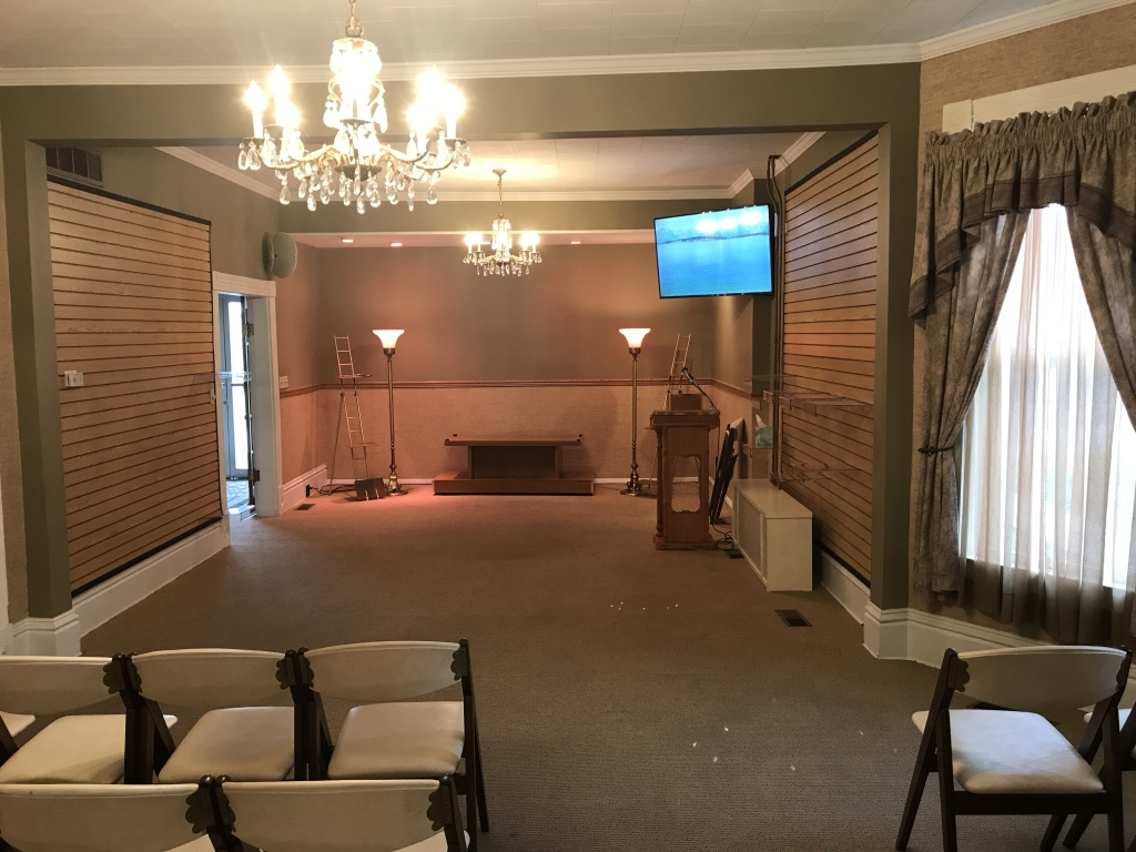Family Chapel with state of the art video.