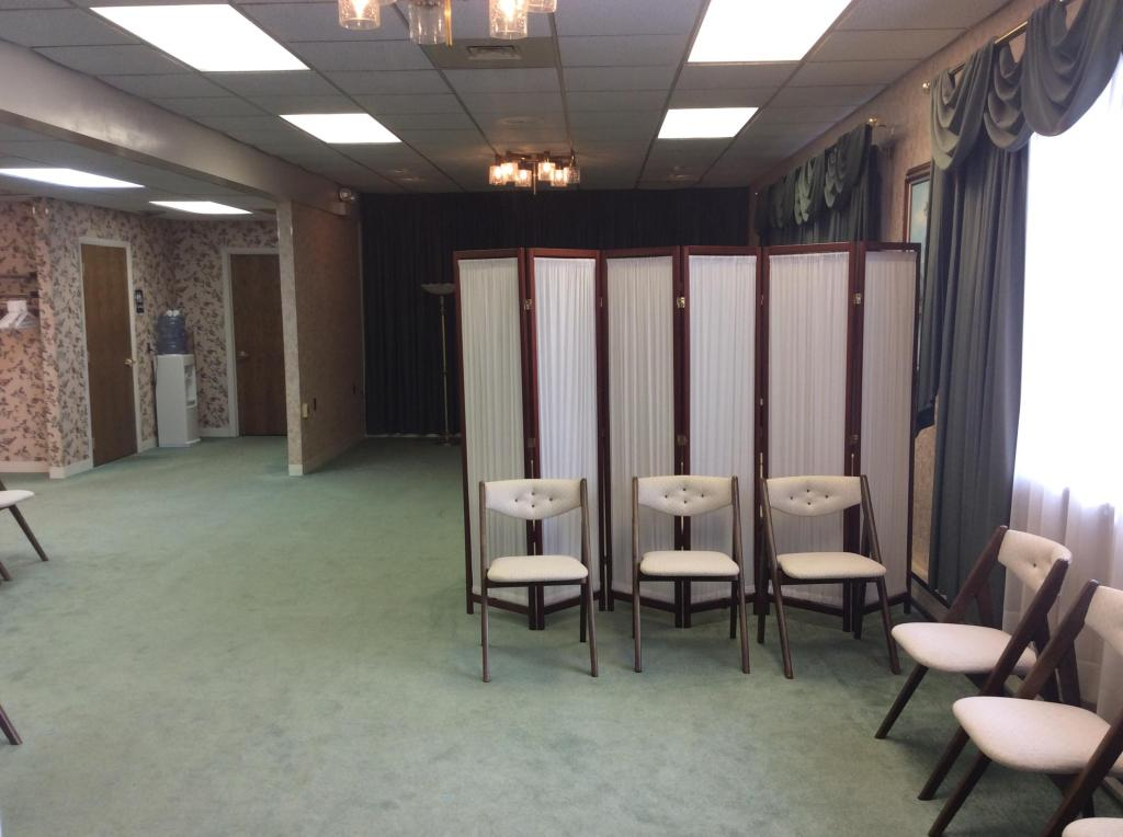 Visitation Room with Divider at East Freedom