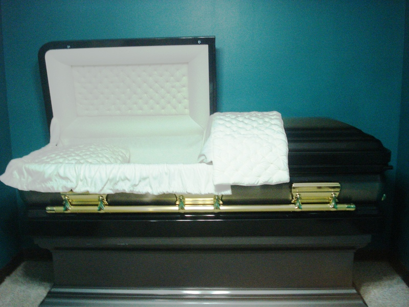 Black  Gold Casket