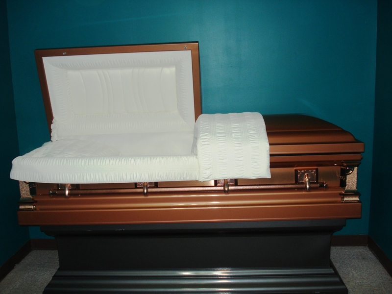 Brown & Copper Casket