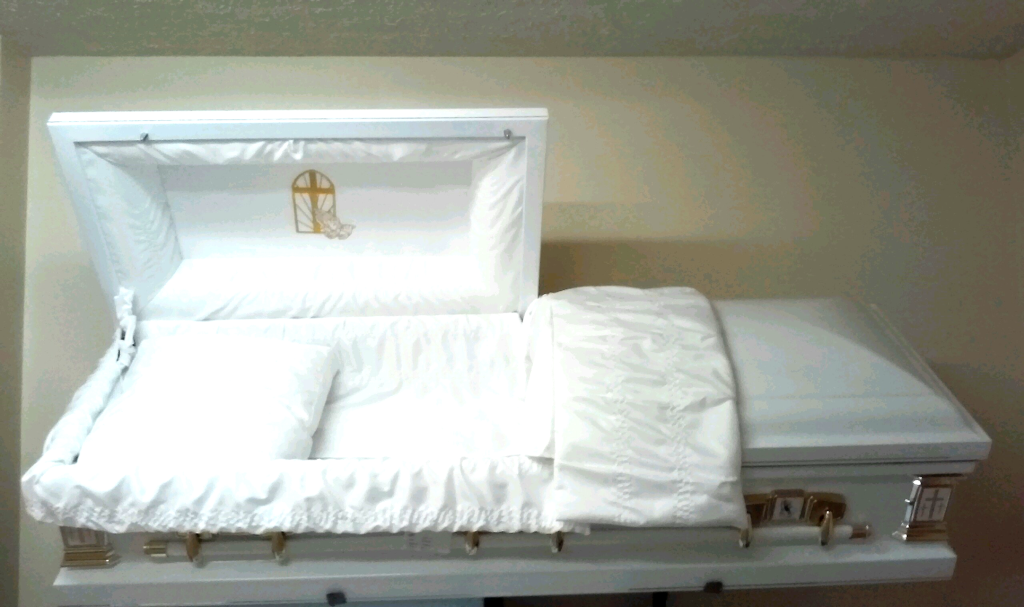 White CrossChapel Casket