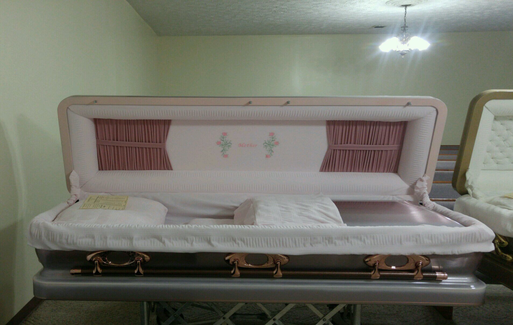 Pink Orchid Mother Casket