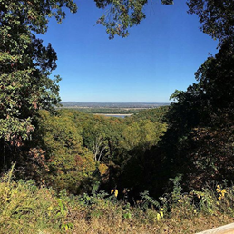 Overlooking the Mississippi River