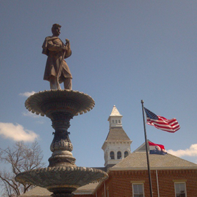 Statue at Cape Girardeau Common Pleas Courthouse