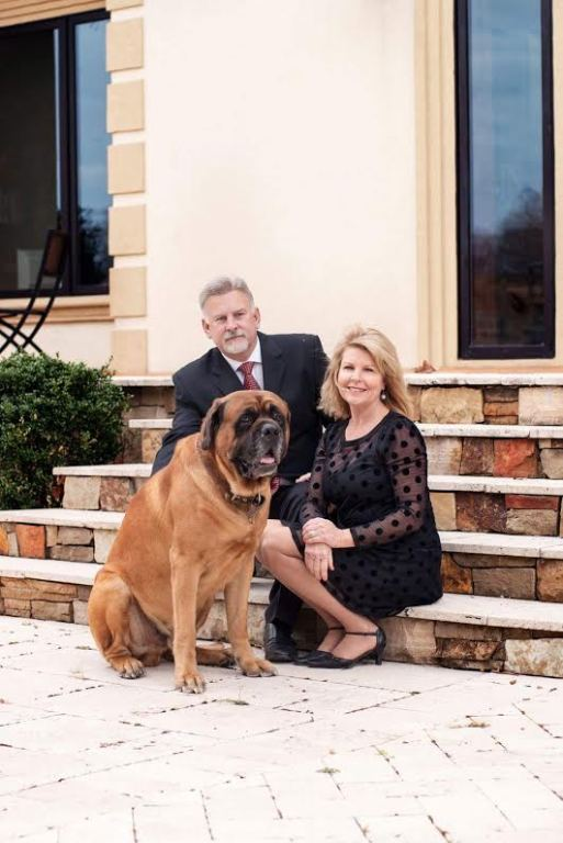 Jim and Debbie Murphy  with their dog Murf