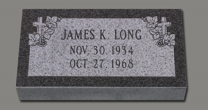 Granite Marker 2x1 Dark