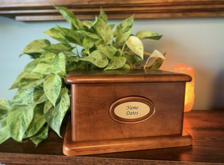 Handcrafted Maple Urn with Personalized Plaque - $349.00