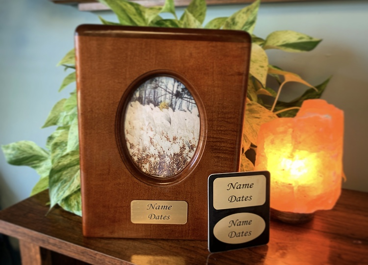 Handcrafted Urn with Photo Insert - Personalized Plaque - $349.00