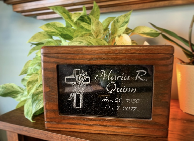 Tribute Urn - Granite Plaque Insert - $495.00