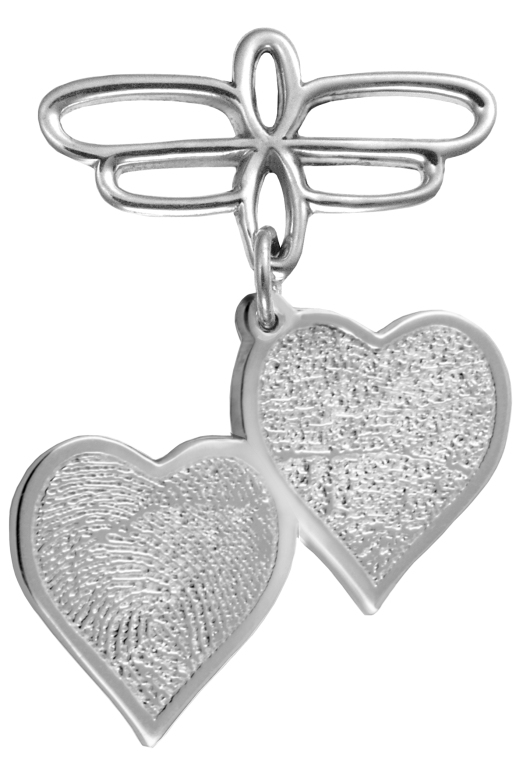 Double Heartfelt Hanging Pin
