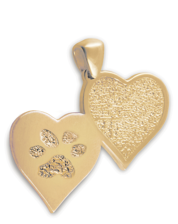 Double Heartfelt with Fingerprint and Paw Print