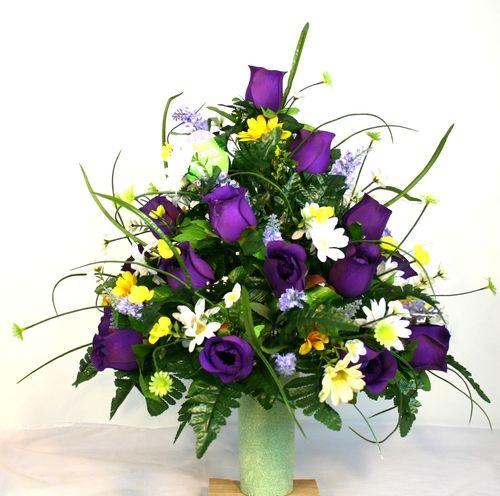 Cemetery Vase Arrangements