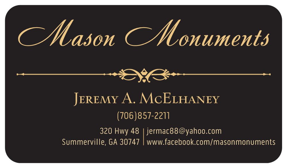 Like Us of Facebook www.facebook.com/masonmonuments
