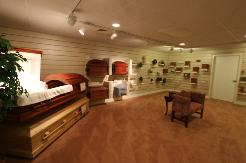 Urns and Cremation Caskets Selection Room