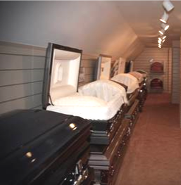 Casket and Outer Burial Selection Room