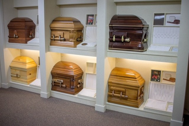 A beautiful selection of caskets