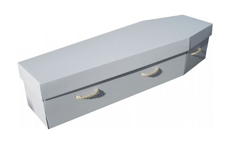 White Corrugated Coffin (suitable for writing and art) $395