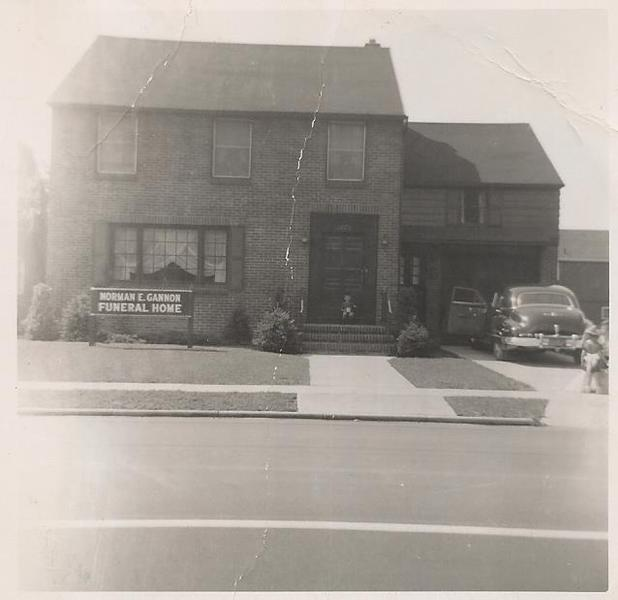 The original funeral home building circa 1951. It should be noted that this was the first brand new building built exclusively as a funeral home in the Buffalo area.