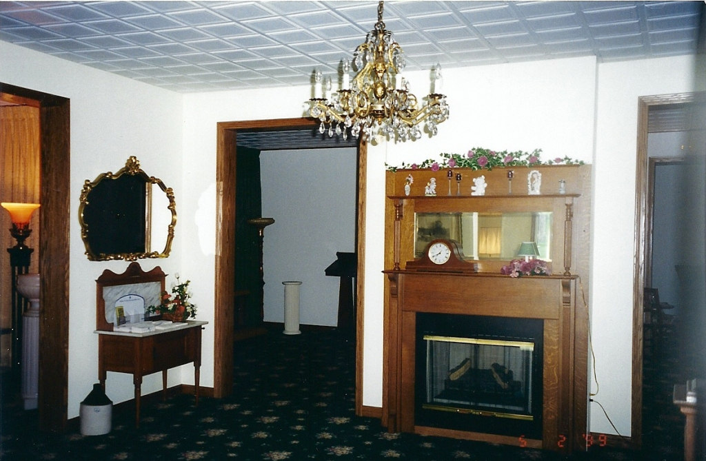 The mantel shown was manufactured by the Tionesta Mantel Company in the early 1900's.