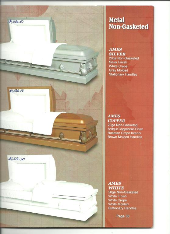 Free 20 gauge Non-Gasketed Caskets For Veterans,spouses, and their immediate family