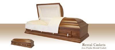 Aria Poplar Rental Casket