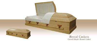 Carroll Maple Rental Casket