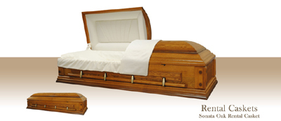 Sonata Oak Rental Casket