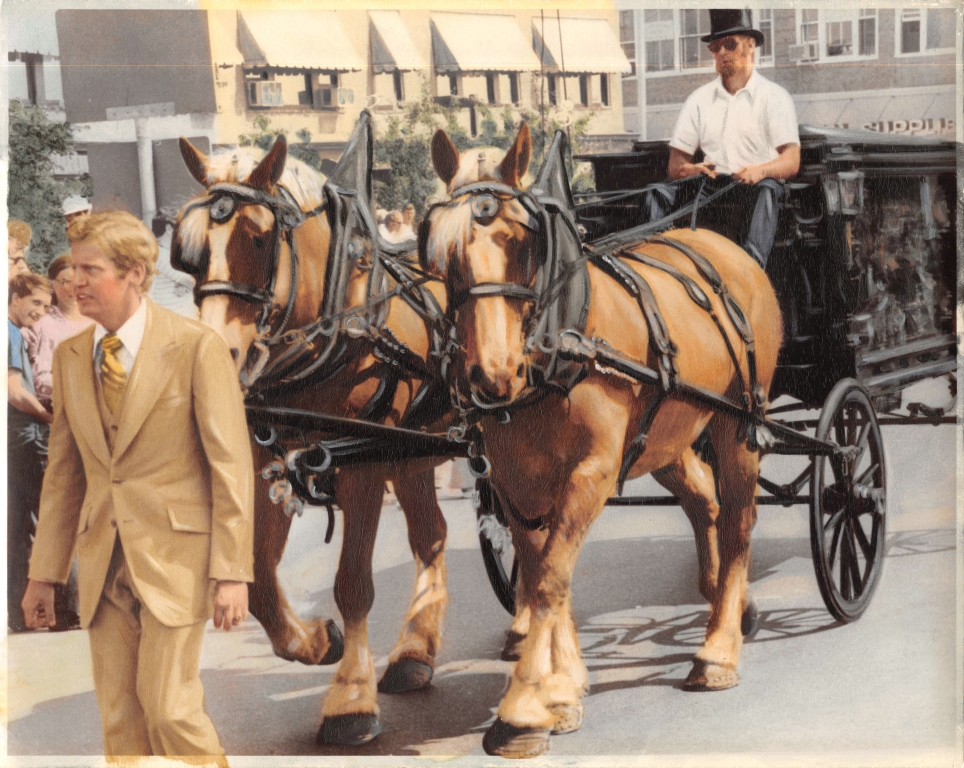 The O'Donnell Family Horse Drawn Hearse - 1976
