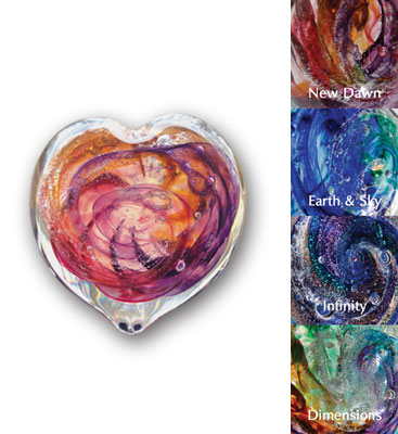 Forever Heart Art Glass