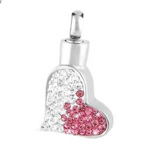 Pink Heart Stainless Steel Necklace