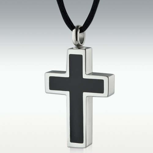Ebony Stainless Steel Cross