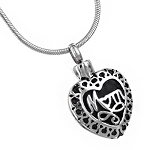 Stainless Steel Mom Filigree Necklace