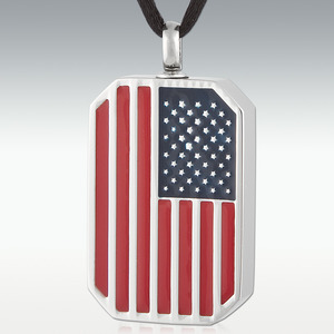 Stainless Steel Flag Necklace