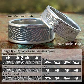 Life Print Rings