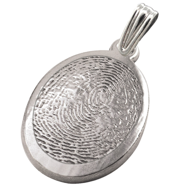 Ringed Oval Life Print - Sterling Silver