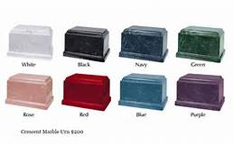 Marble Urns. Available in eight elegant colors. $265.00