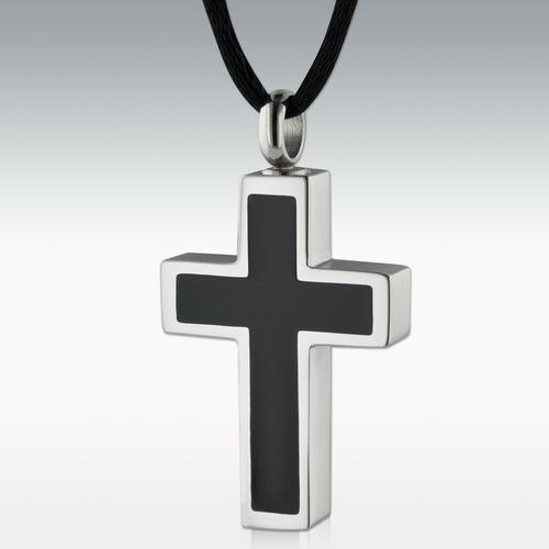 Ebony Stainless Steel Cross
