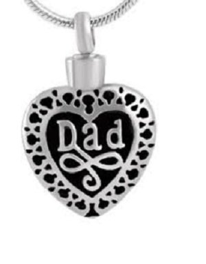 Stainless Steel Dad Filigree Necklace