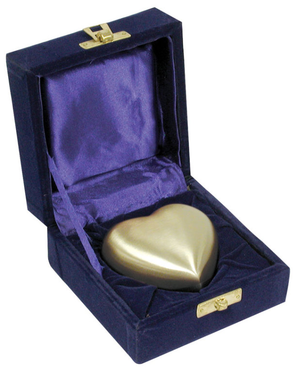 Gold Brass Heart