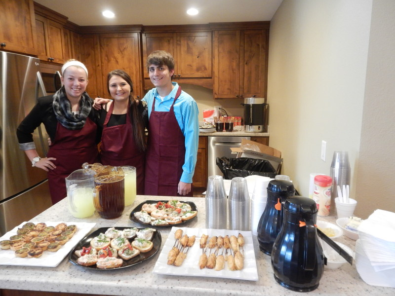 The Norwalk High School Culinary Class catered the open house and festivities during the open house weekend.