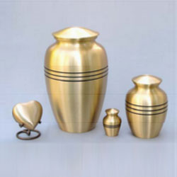Brushed Bronze Urn
