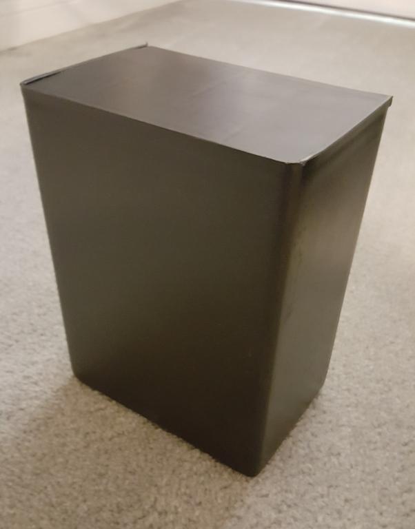 Black Plastic Urn