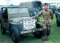 Jay pictured with our 1946 Willy's Jeep in England during D-Day +60